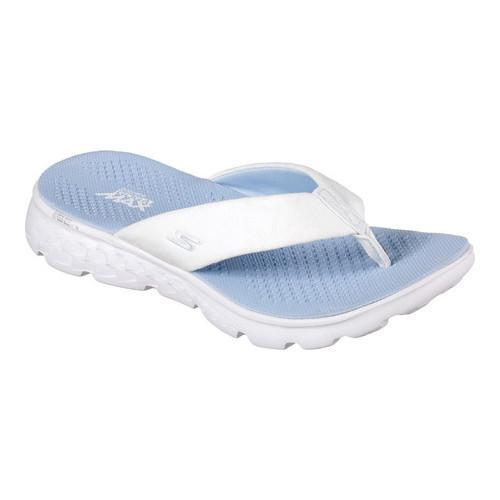 2863dd49d204 Shop Women s Skechers On the GO 400 Essence Thong Sandal White Blue - Free  Shipping On Orders Over  45 - Overstock - 13396120