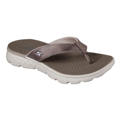 4cc9f491d22c8 Shop Women s Skechers On the GO 400 Essence Thong Sandal Taupe - Free  Shipping On Orders Over  45 - Overstock - 13396119