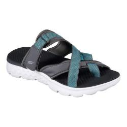 Women's Skechers On the GO 400 Discover Toe-Loop Sandal Charcoal