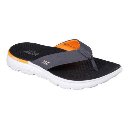 4cb51e642cc Shop Men s Skechers On the GO 400 Shore Flip-Flop Charcoal Orange - Free  Shipping On Orders Over  45 - Overstock - 13396130