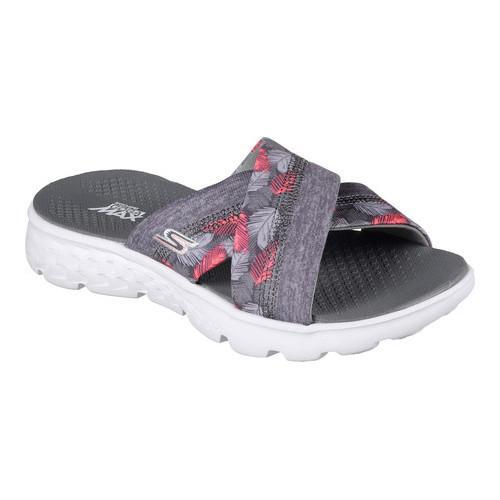 Shop Women S Skechers On The Go 400 Tropical Slide Gray
