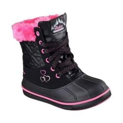 Girls' Skechers Puddle Up Boot Black/Hot Pink