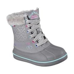 Girls' Skechers Puddle Up Boot Gray/Green