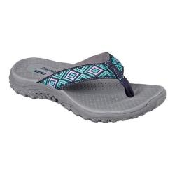 Women's Skechers Reggae Decorum Thong Sandal Navy