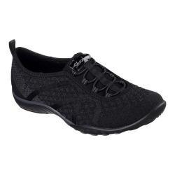 Women's Skechers Relaxed Fit Breathe Easy Fortune-Knit Slip-On Black