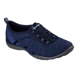Women's Skechers Relaxed Fit Breathe Easy Fortune-Knit Slip-On Navy