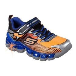 Boys' Skechers S Lights Flashpod Scoria Sneaker Orange/Blue