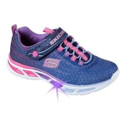 Girls' Skechers S Lights Litebeams Bungee Lace Sneaker Navy/Multi