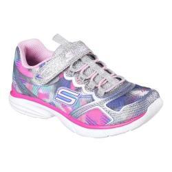 Girls' Skechers Spirit Sprintz Sneaker Silver/Multi