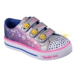 Girls' Skechers Twinkle Toes Shuffles Expressionista Sneaker Blue/Pink