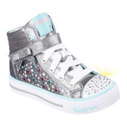 Girls' Skechers Twinkle Toes Shuffles Starry Spirit High Top Gunmetal/Turquoise
