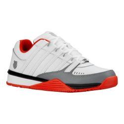 Men's K-Swiss Baxter Sneaker White/Fiery Red/Black