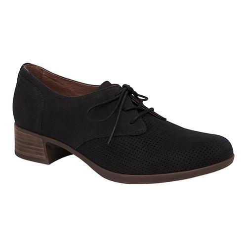 399809238f9d1 Shop Women's Dansko Louise Heeled Oxford Black Nubuck - Free Shipping Today  - Overstock - 13436139