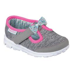 Girls' Skechers GOwalk Bitty Bow Slip On Gray/Mint