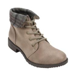 Women's Cliffs by White Mountain Thornhill Ankle Boot Stone Distressed/Fabric