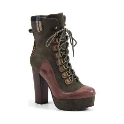 Women's Luichiny Bright Idea Bootie Army/Brown Imi Leather/Suede