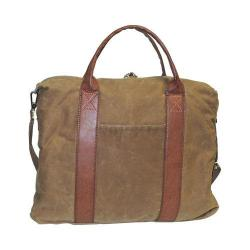 Men's Dopp Canvas Laptop Briefcase Tan