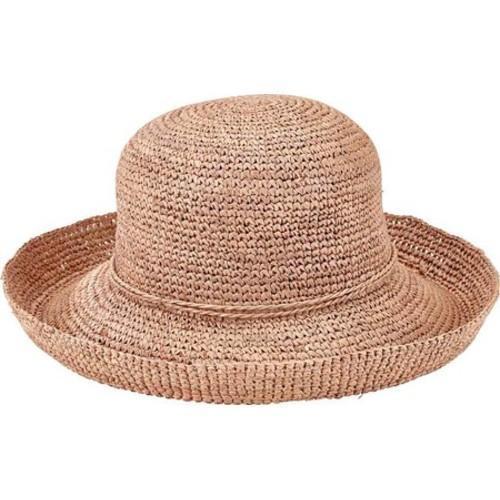 04b6eada020c22 Shop Women's San Diego Hat Company Crochet Raffia Kettle Brim Hat RHM6004  Nougat - Free Shipping Today - Overstock - 13457502