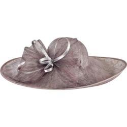 Women's San Diego Hat Company Asymmetrical Fascinator Sun Brim Hat DRS1015 Charcoal