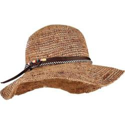 Women's San Diego Hat Company Crochet Raffia Round Crown Floppy Sun Hat RHM6008 Coffee