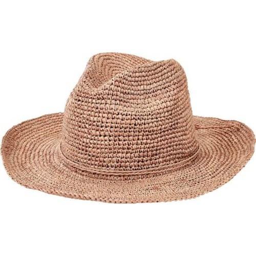 97834fc82da28c Shop Women's San Diego Hat Company Pinched Crown Fedora Crochet Raffia  RHM6005 Nougat - Free Shipping Today - Overstock.com - 13457533
