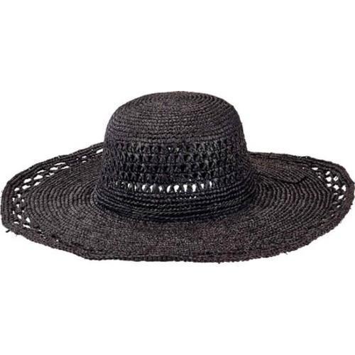 f2b22745cfa Shop Women s San Diego Hat Company Raffia Round Crown Large Sun Brim Hat  RHL3085 Black - Free Shipping Today - Overstock.com - 13457542