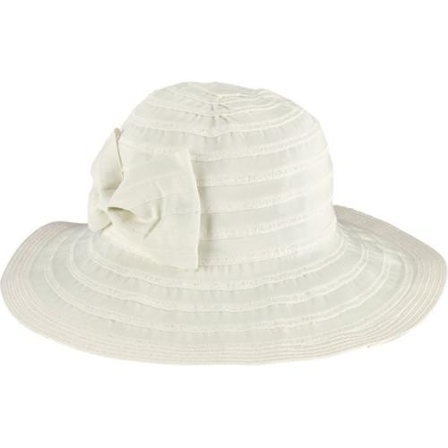 3df9469aa1b283 Shop Women's San Diego Hat Company Ribbon Paperbraid Packable Bow Sunbrim  Hat RBM5561 White - Free Shipping On Orders Over $45 - Overstock - 13457548