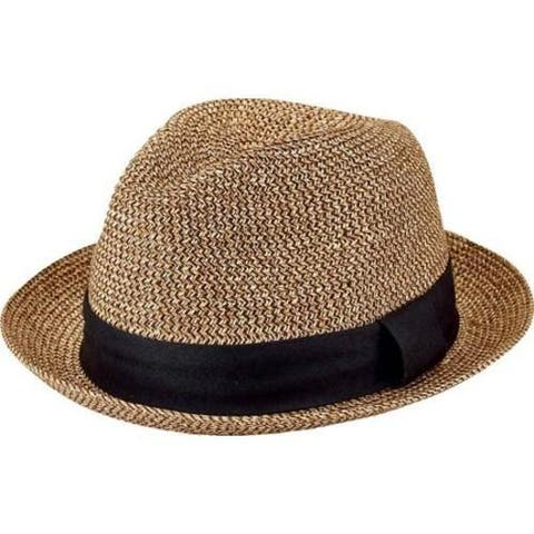 Men's San Diego Hat Company Ultrabraid Fedora UBF1017 Mix Black