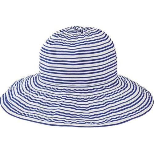 1a2e8c5fa51 Shop Women s San Diego Hat Company Wide Striped Ribbon Wired Sun Brim Hat  RBL4794 Blue - Free Shipping On Orders Over  45 - Overstock.com - 13457607