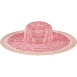 Women's San Diego Hat Company Mixed Braid Large Brim Floppy Hat MXL1016 Pink