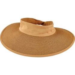 Women's San Diego Hat Company Paperbraid Visor with Elastic Closure PBV010 Natural