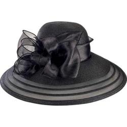Women's San Diego Hat Company Poly Dress Hat with Organza Bow DRS1011 Black