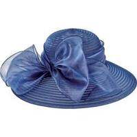 Women's San Diego Hat Company Poly Dress Hat with Oversized Bow DRS1010 Navy