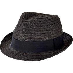 Men's San Diego Hat Company Solid Ultrabraid Fedora UBF1018 Black