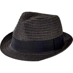 Men's San Diego Hat Company Solid Ultrabraid Fedora UBF1018 Black