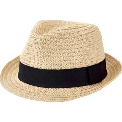 Men's San Diego Hat Company Solid Ultrabraid Fedora UBF1018 Natural