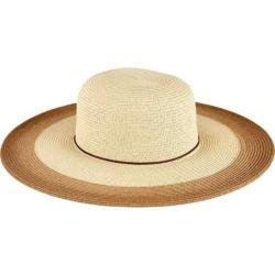 Women's San Diego Hat Company Sun Brim Hat with Painted Color Pop UBL6484 Tobacco