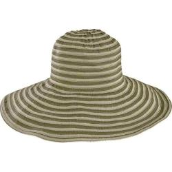 Women's San Diego Hat Company Tonal Ribbon Hat with Wired Sun Brim RBL4788 Olive