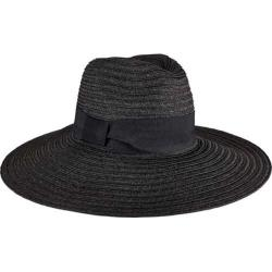 Women's San Diego Hat Company Ultrabraid Fedora Knotted Grosgrain UBL6494 Black