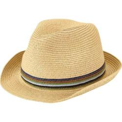 Men's San Diego Hat Company Ultrabraid Fedora with Multi Color Inset UBF1019 Natural