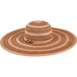 Women's San Diego Hat Company Ultrabraid Sun Brim Hat with Beaded Trim UBL6489 Brown