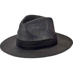 Men's San Diego Hat Company Woven 3in Brim Paper Fedora PBF7308in Black