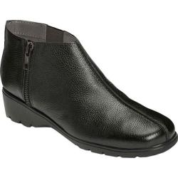 Women's Aerosoles Sonic Ankle Bootie Black Leather