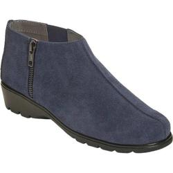 Women's Aerosoles Sonic Ankle Bootie Dark Blue Suede