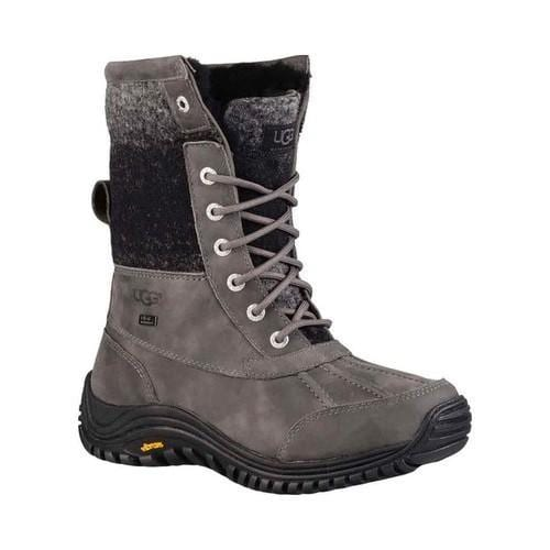 Women's UGG Adirondack Boot II Charcoal Waterproof Leather/Water-Resistant