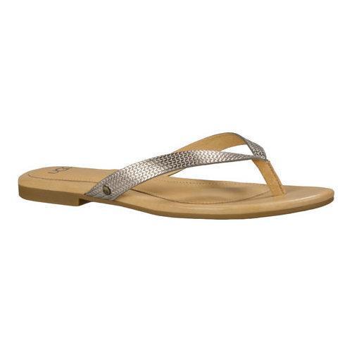 e328f69e9f65 Shop Women s UGG Allaria II Metallic Braid Flip Flop Soft Gold - Free  Shipping Today - Overstock - 13472182