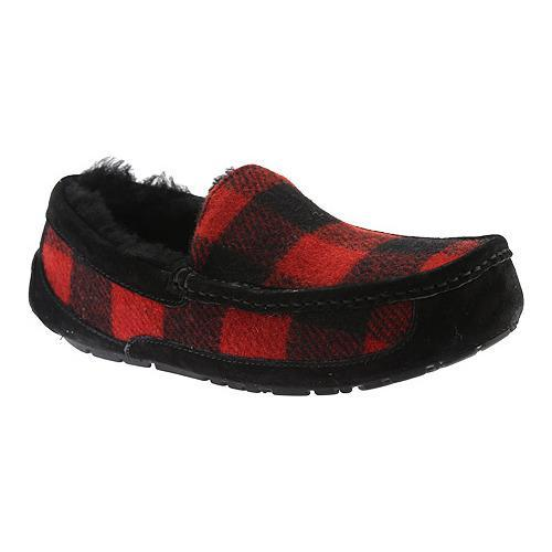 Men's UGG Ascot Plaid Slipper Redwood