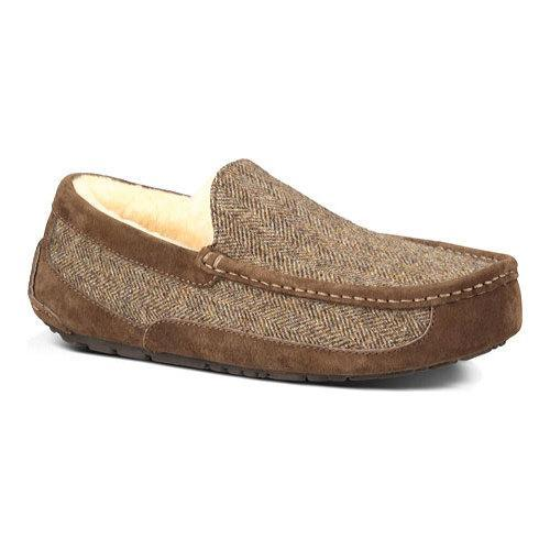 970e2ecca20 Shop Men s UGG Ascot Tweed Slipper Stout - Free Shipping On Orders Over  45  - Overstock - 13471928