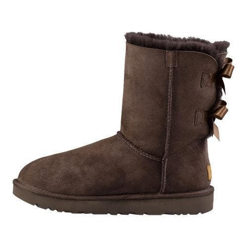 7fd4aad3b79 Women's UGG Bailey Bow II Boot Chocolate 2   Overstock.com Shopping - The  Best Deals on Boots