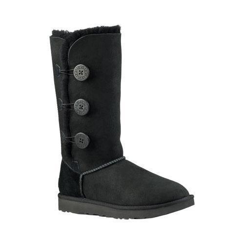 5b66c59eb Shop Women's UGG Bailey Button Triplet II Boot Black 2 - Free ...